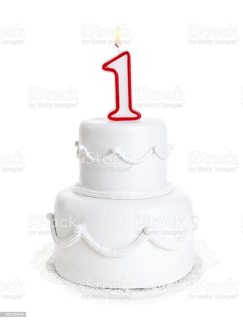 Pleasing First Birthday Cake Stock Photo Download Image Now Istock Funny Birthday Cards Online Amentibdeldamsfinfo