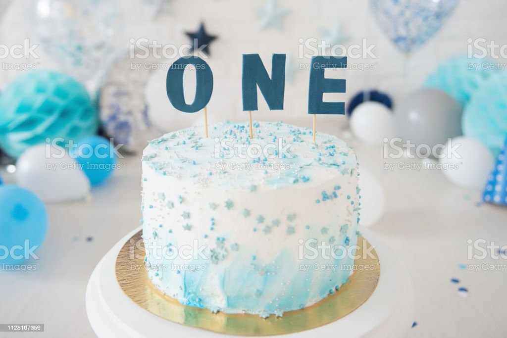 Peachy First Birthday Cake Smash Cake One Year Stock Photo Download Personalised Birthday Cards Cominlily Jamesorg