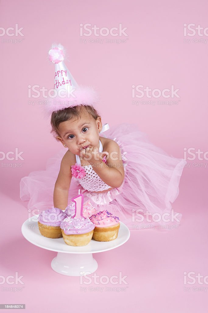 Tremendous First Birthday Girl Stock Photo Download Image Now Istock Funny Birthday Cards Online Hetedamsfinfo