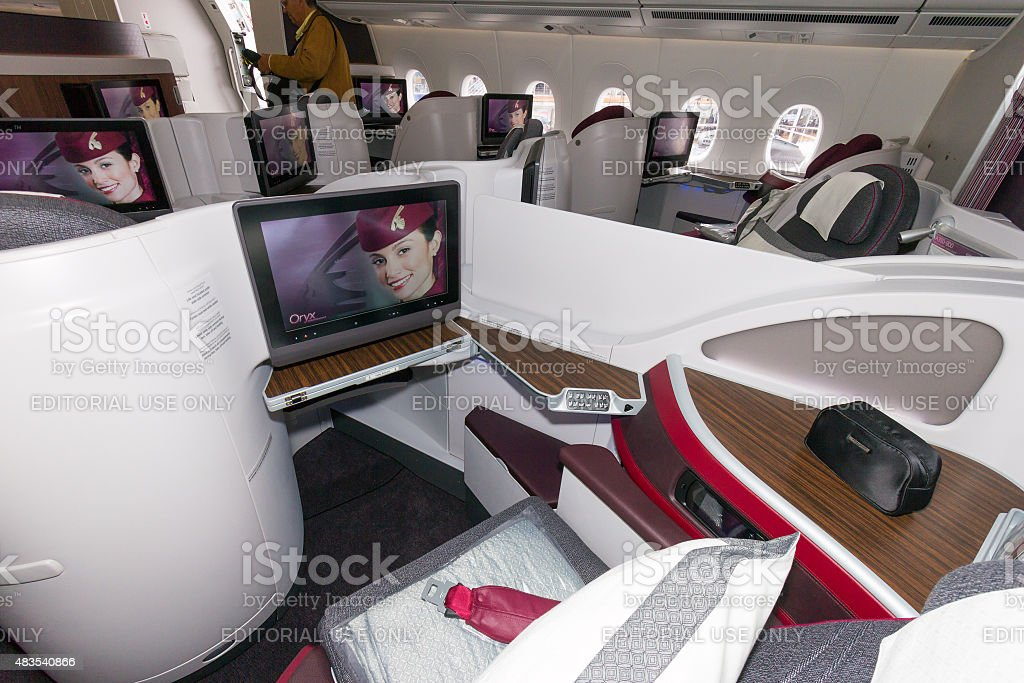 First Class Airbus A350 stock photo