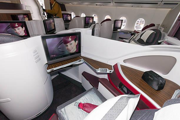 Prima classe Airbus A350 - foto stock