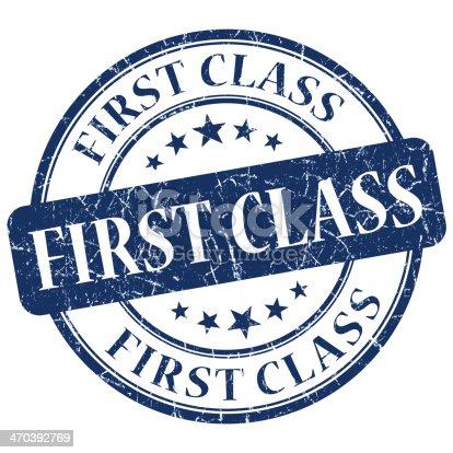 istock first class blue grunge stamp 470392769