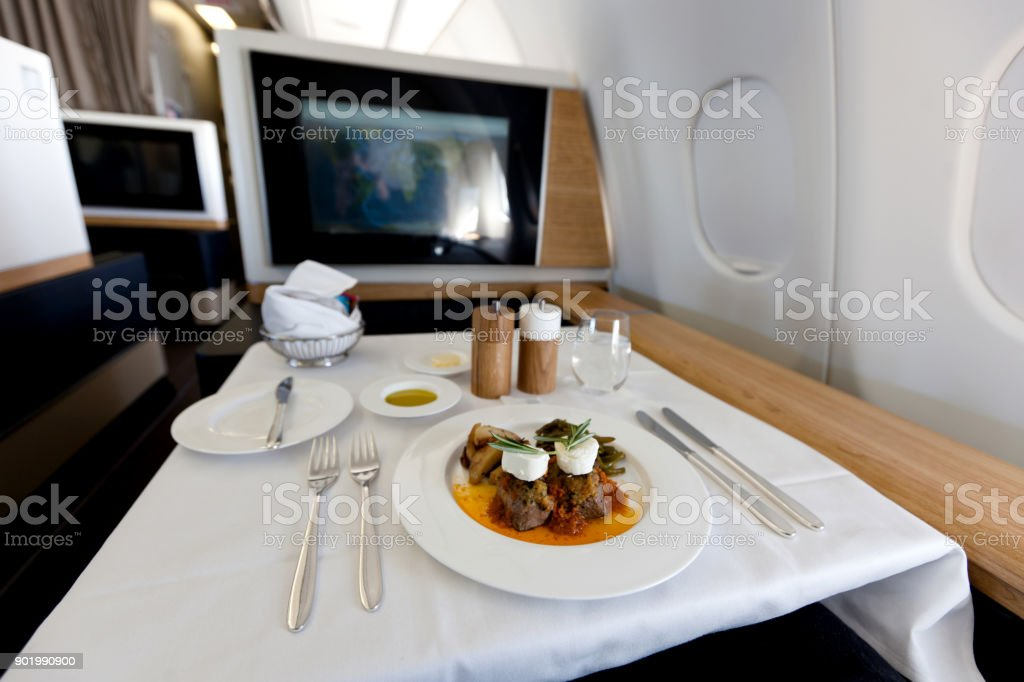 First Class Food stock photo