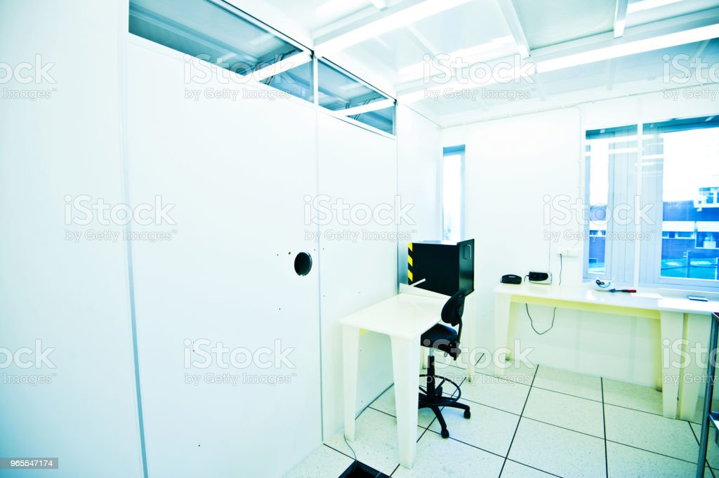 First Class ISO Certified Measurement Room (Gray Room or Anteroom) stock photo