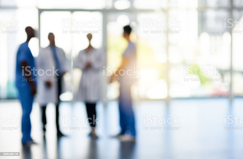 First class medical team stock photo