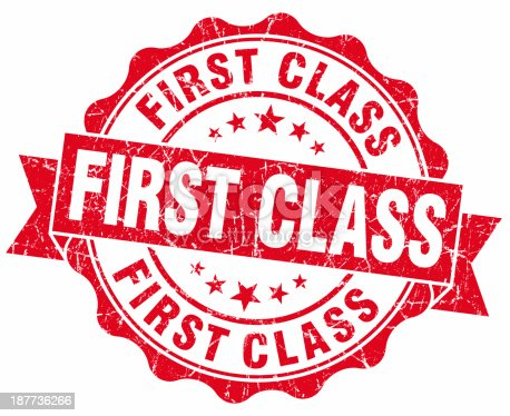 istock first class red round seal 187736266