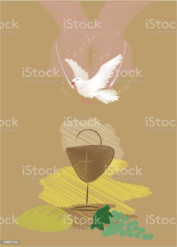 first communion stock photo