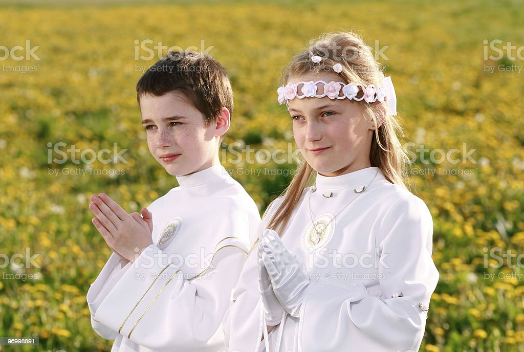 first communion royalty-free stock photo
