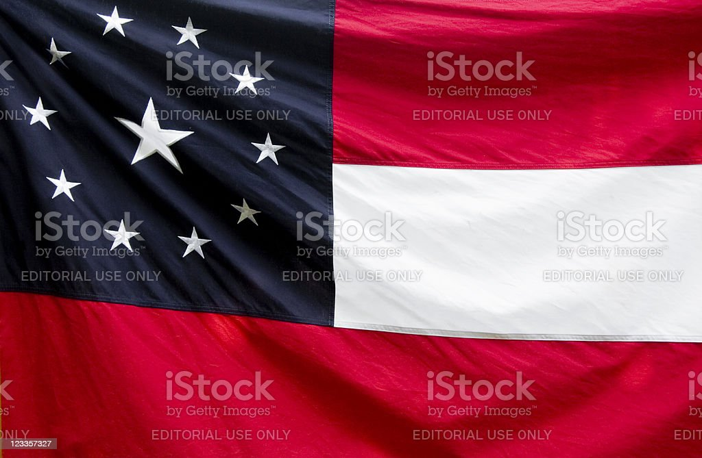 First Confederate Flag--Stars and Bars stock photo