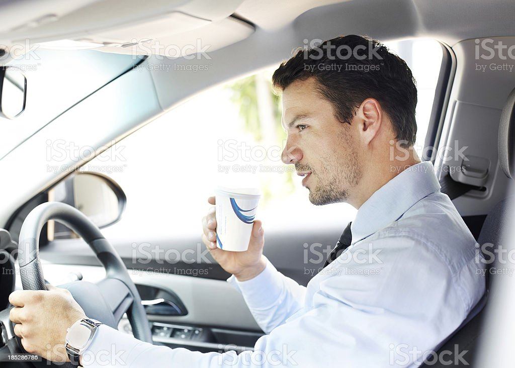 First cup of coffee to start my day royalty-free stock photo
