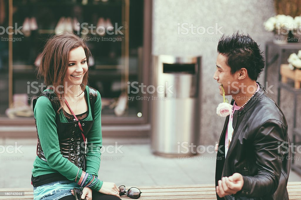 First date royalty-free stock photo