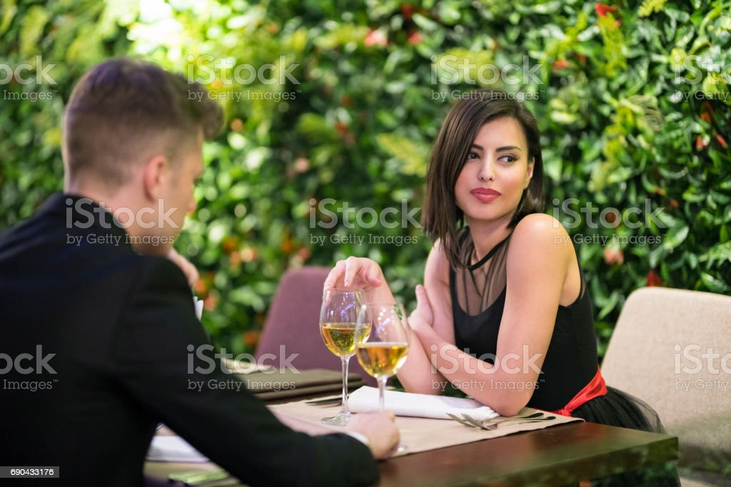 First Date stock photo