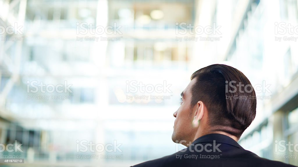 First day at new job stock photo