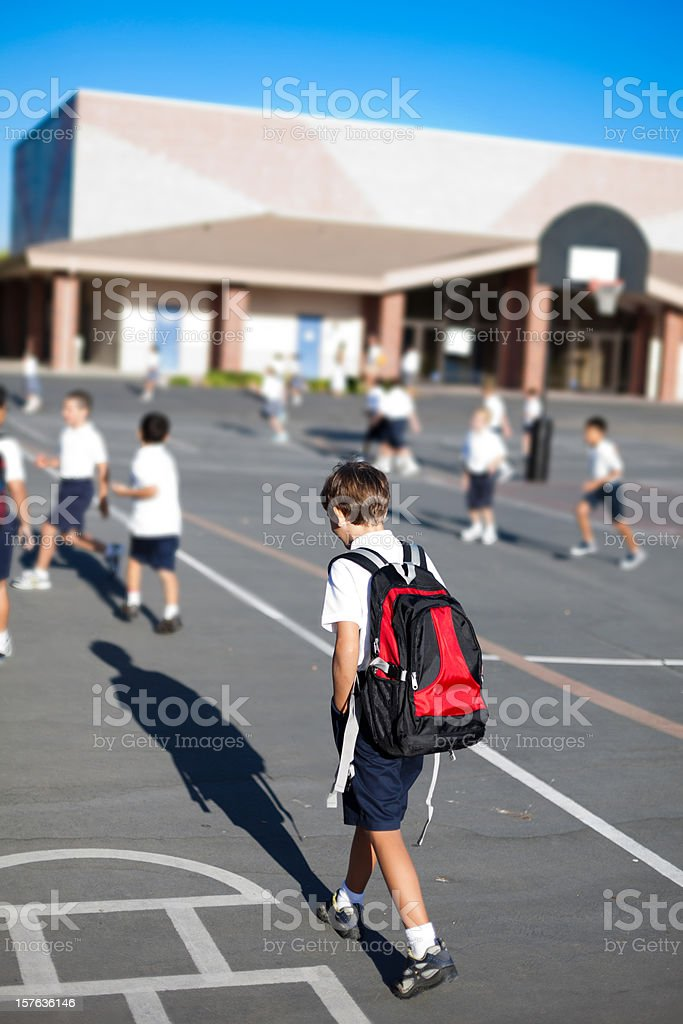 First Day at School royalty-free stock photo