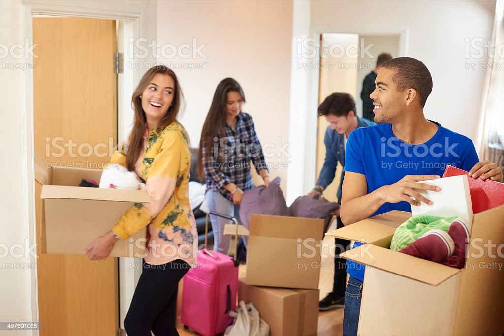 first day at university stock photo