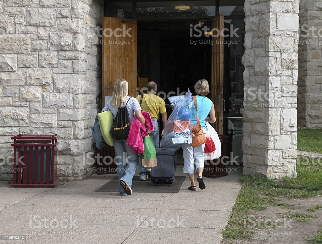First day of College stock photo