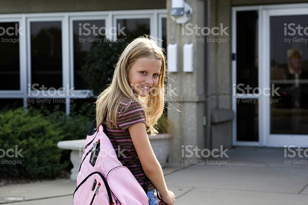 First Day of School - Outside Building stock photo