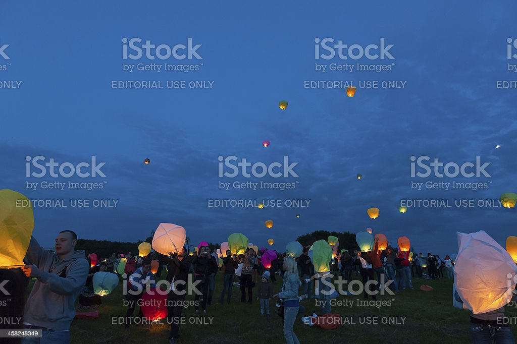 First Day of Summer Festival royalty-free stock photo
