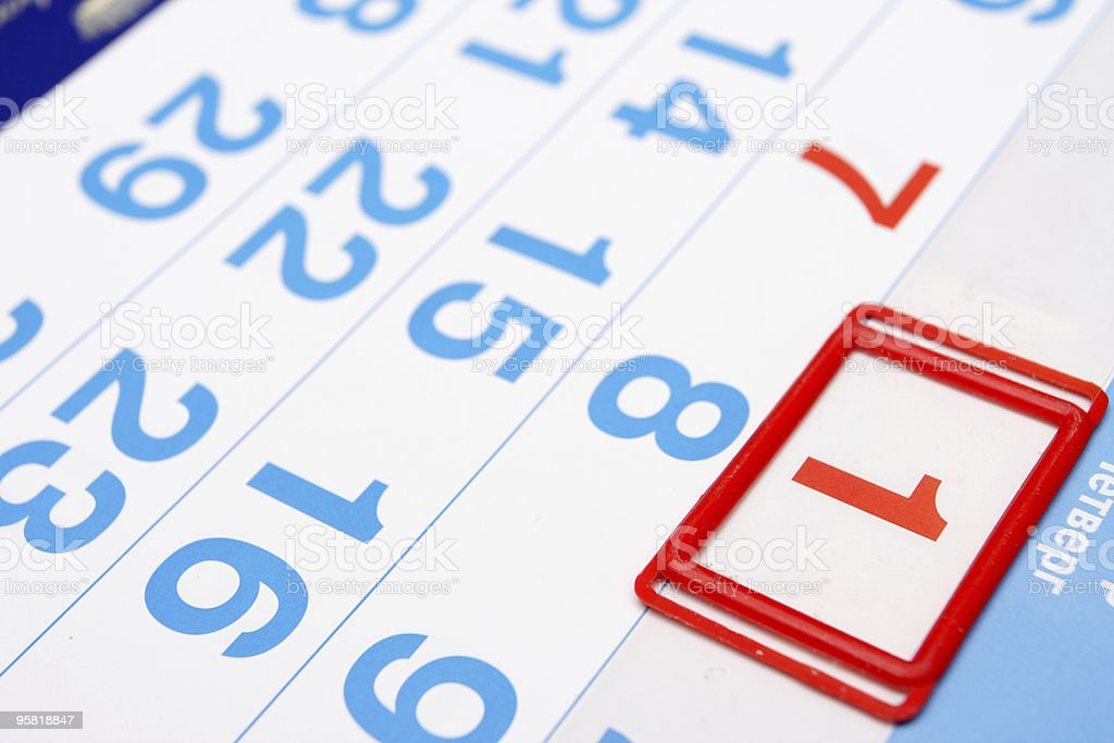 first day of the month royalty-free stock photo