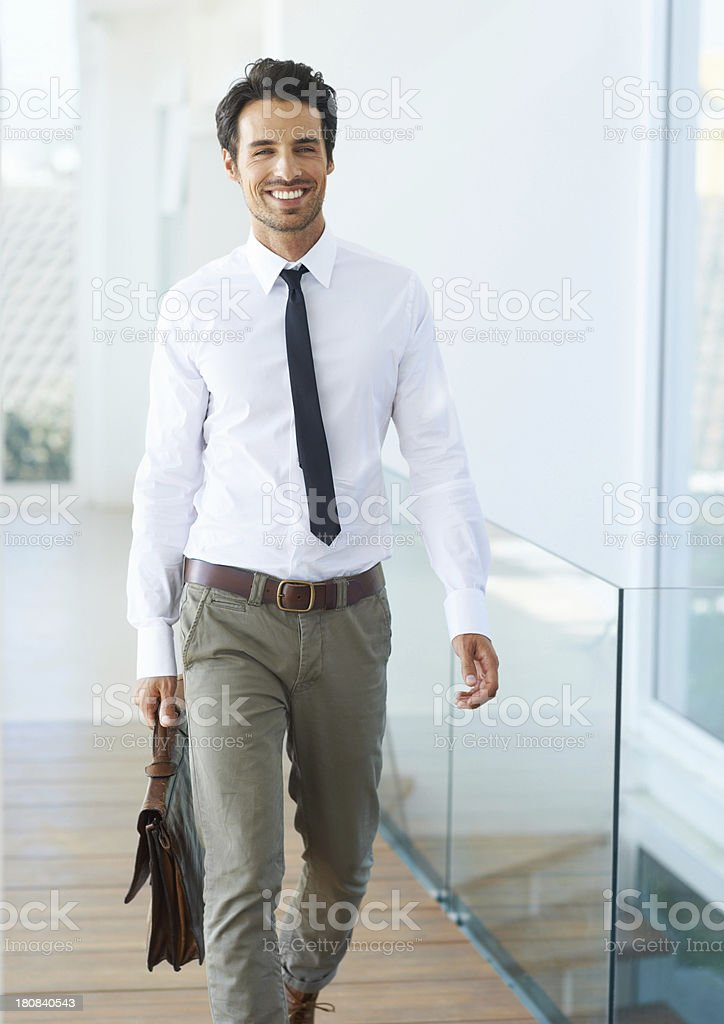 First day on the job stock photo