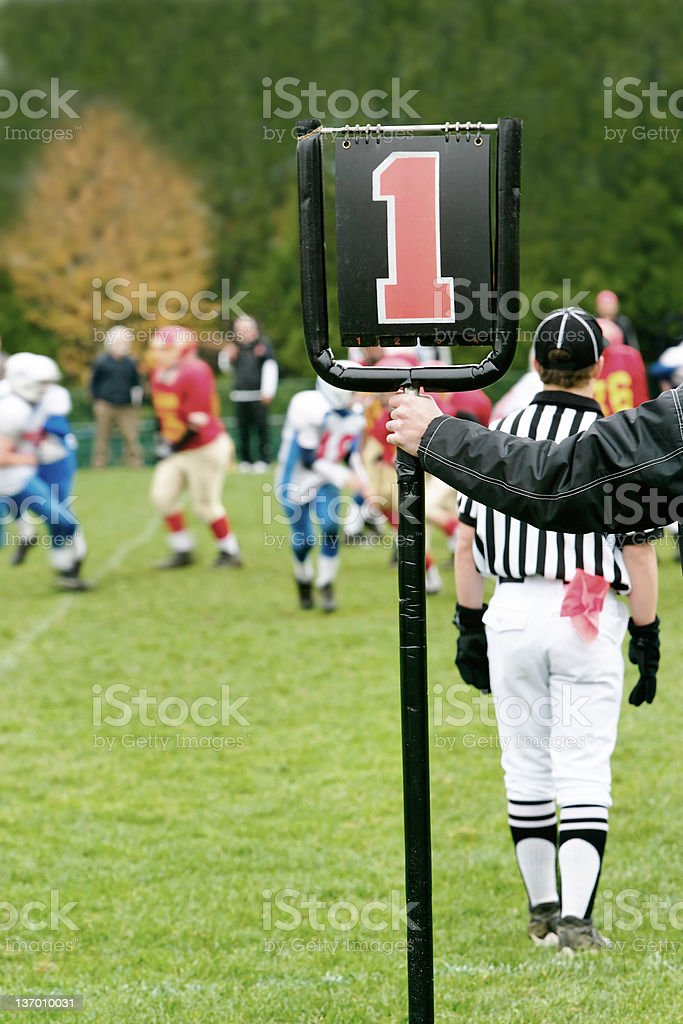 XL first down marker stock photo