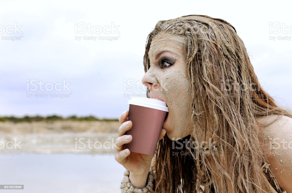 First Encounter With Coffee stock photo