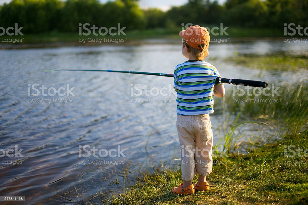 first fishing stock photo