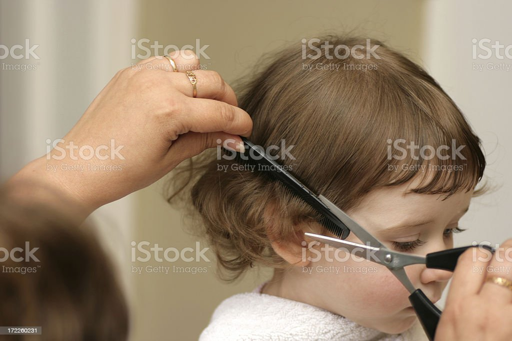 First Haircut - Royalty-free Beauty Stock Photo