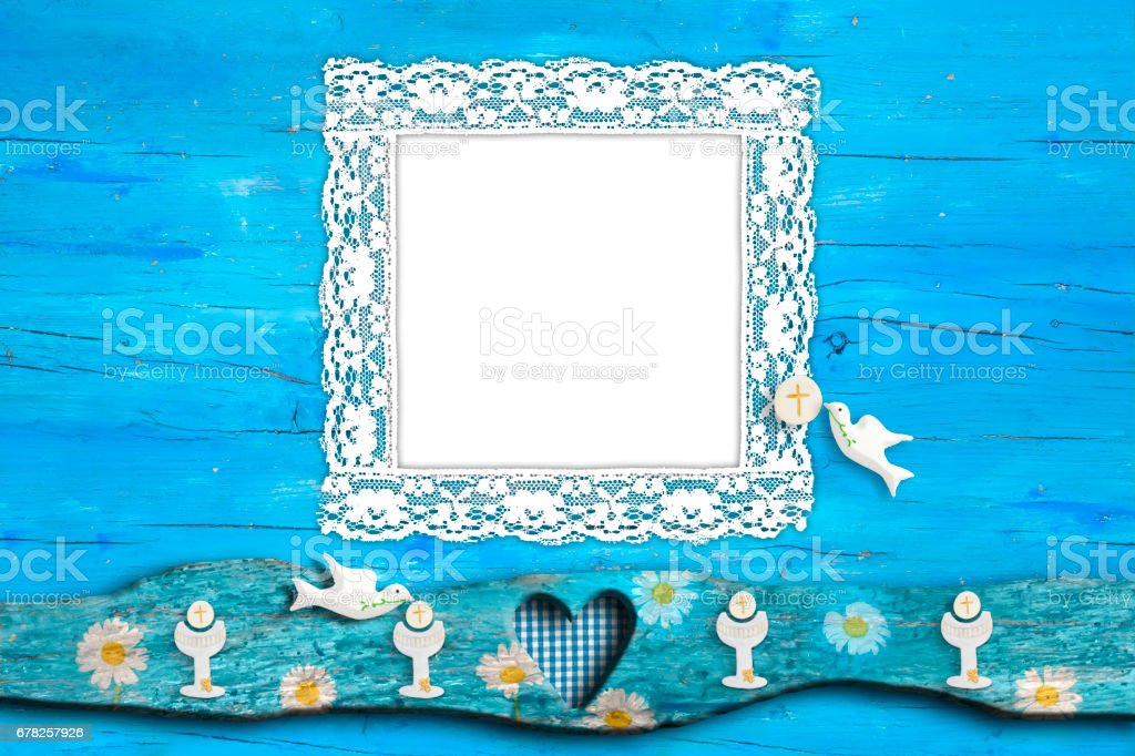 First Holy Communion Invitation Card Stock Photo More Pictures Of
