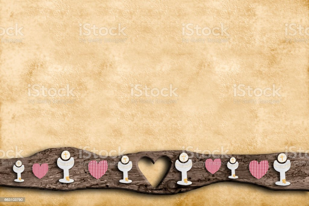 First Holy Communion invitations stock photo