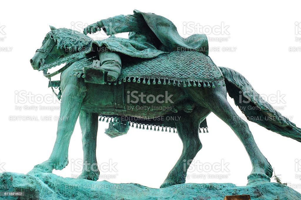 First in Russia Ivan the Terrible monument viewed from underneath stock photo