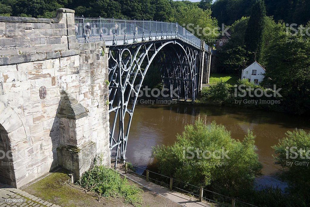 First Iron Bridge stock photo