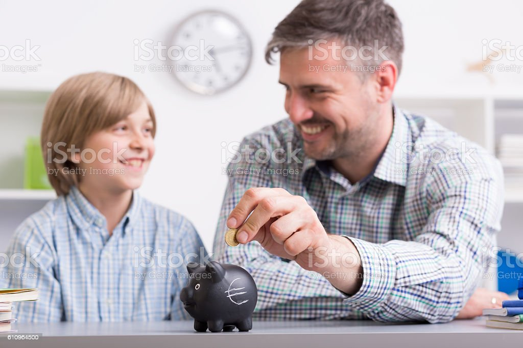 First lesson about economics stock photo