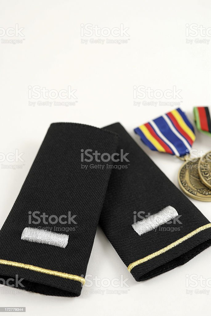 U.S. First Lieutenant Epaulets royalty-free stock photo
