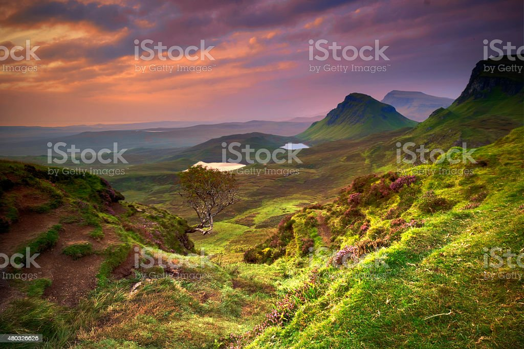 First Light at the Quiraing stock photo