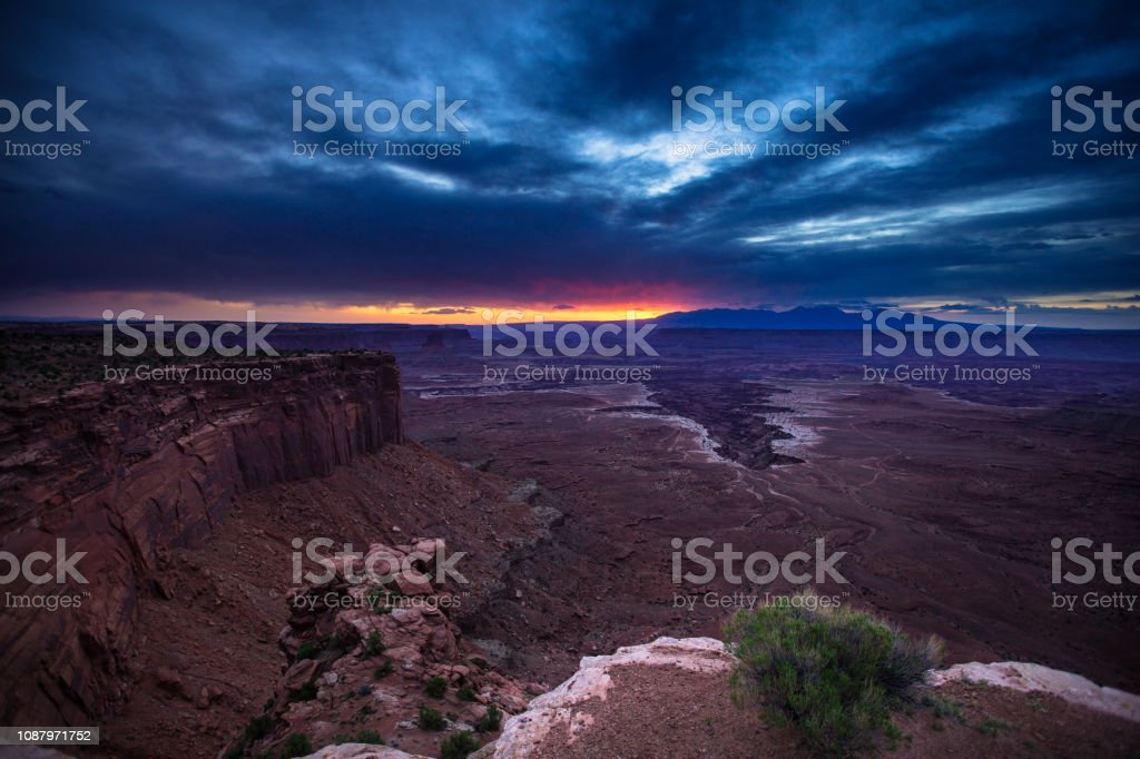 First Light in Canyonlands National Park stock photo