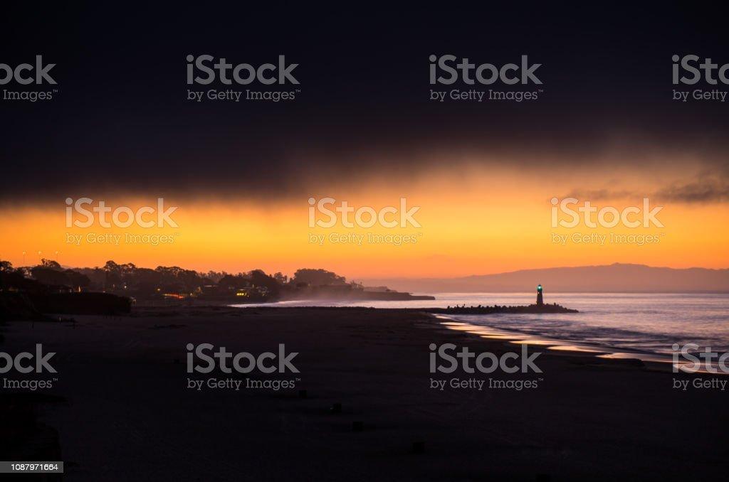First Light in Santa Cruz stock photo
