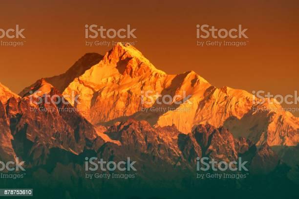 Photo of First light on Mount Kanchenjugha, Himalayan mountain range