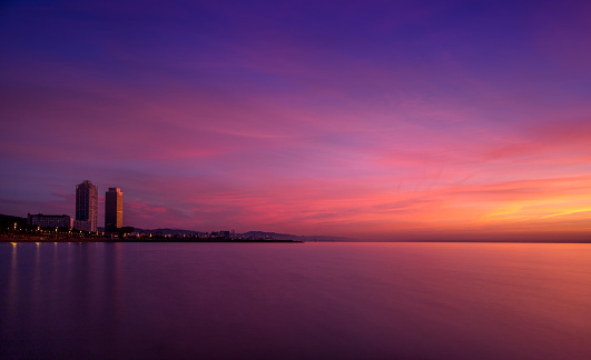 First light over Barcelona