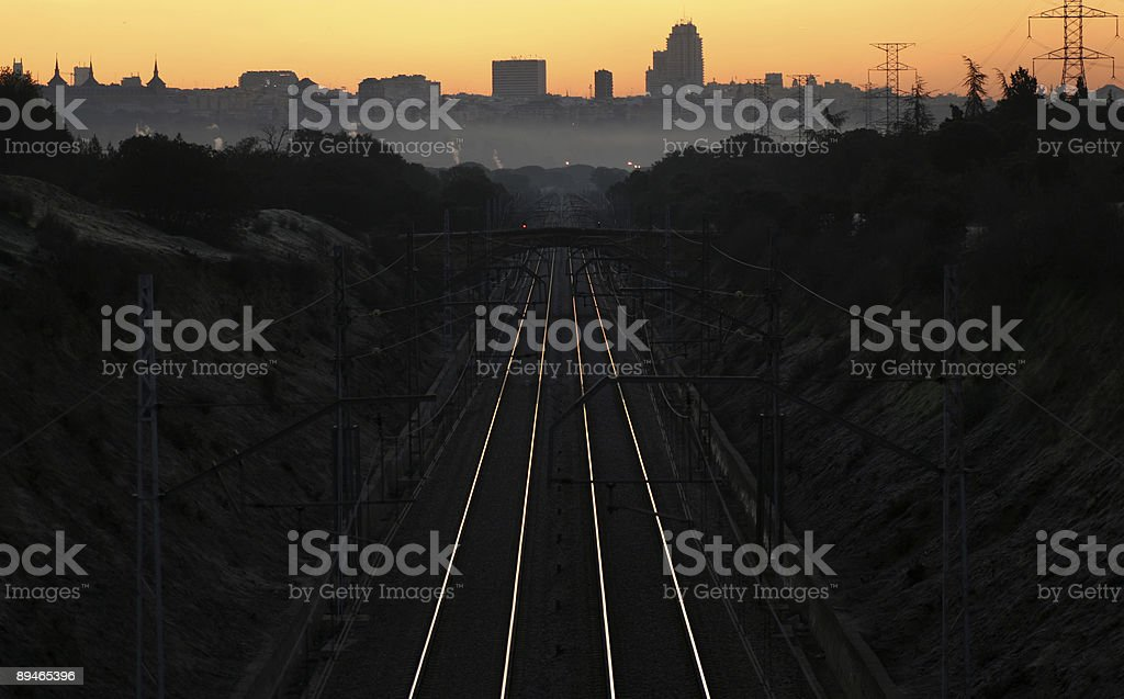 First light railway. royalty-free stock photo
