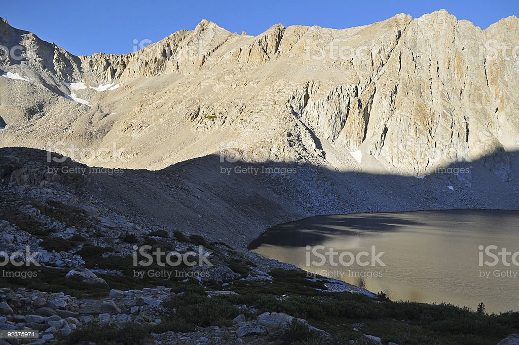 First Light, Upper Palisade Lake royalty-free stock photo
