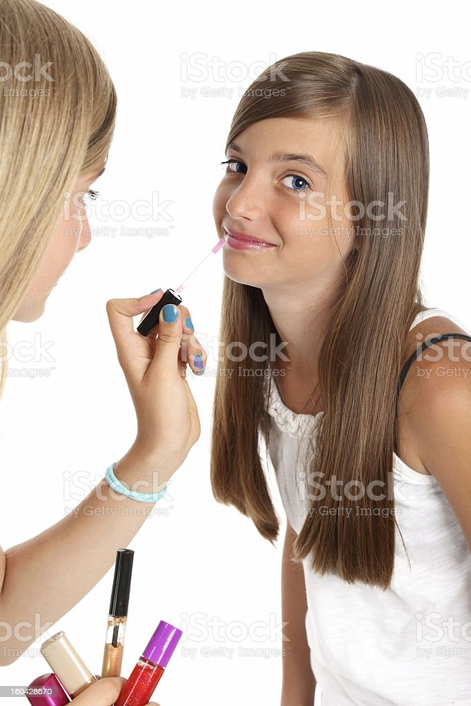 First make-up stock photo