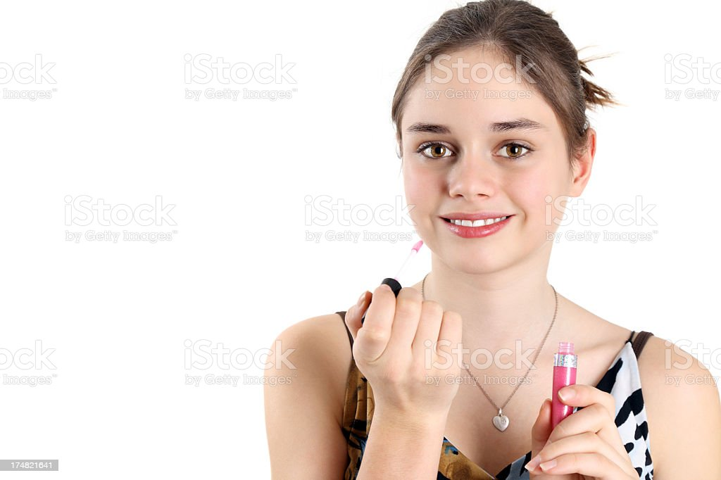 First make-up royalty-free stock photo