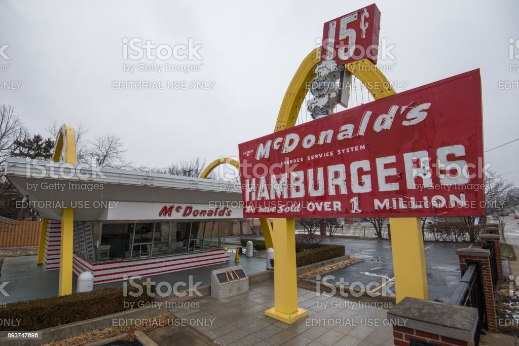 First McDonald's Franchise stock photo