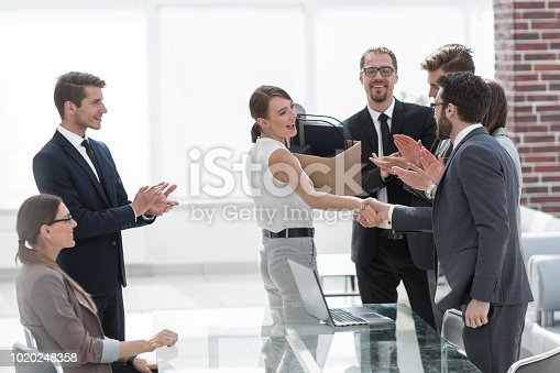 639540494 istock photo first meeting of a young employee with a business team 1020248358