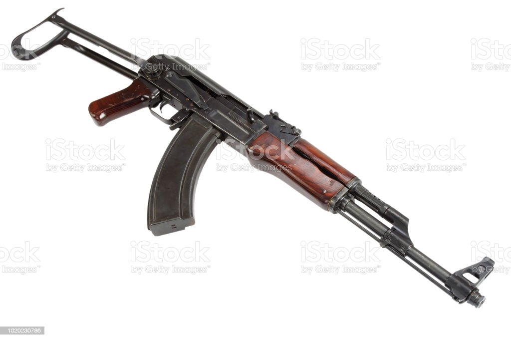 First Model Ak 47 From 1954 Assault Rifle Stock Photo