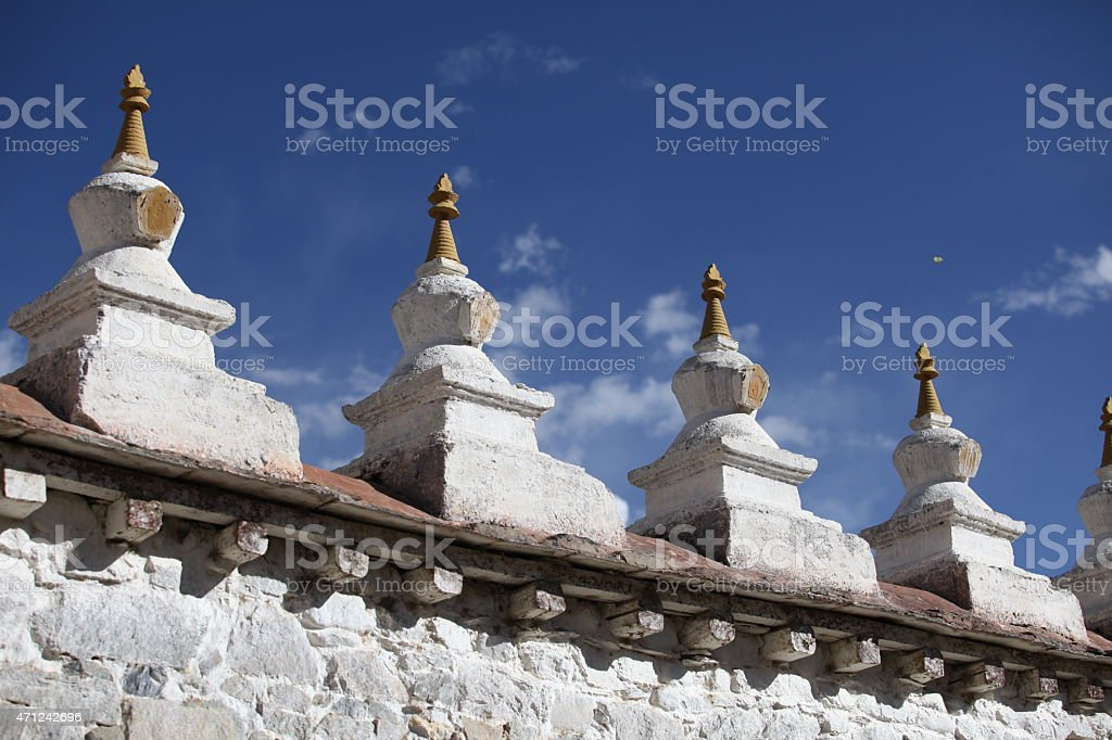 First monastery in Tibet - Samye stock photo