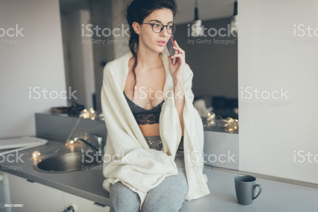 First morning call royalty-free stock photo