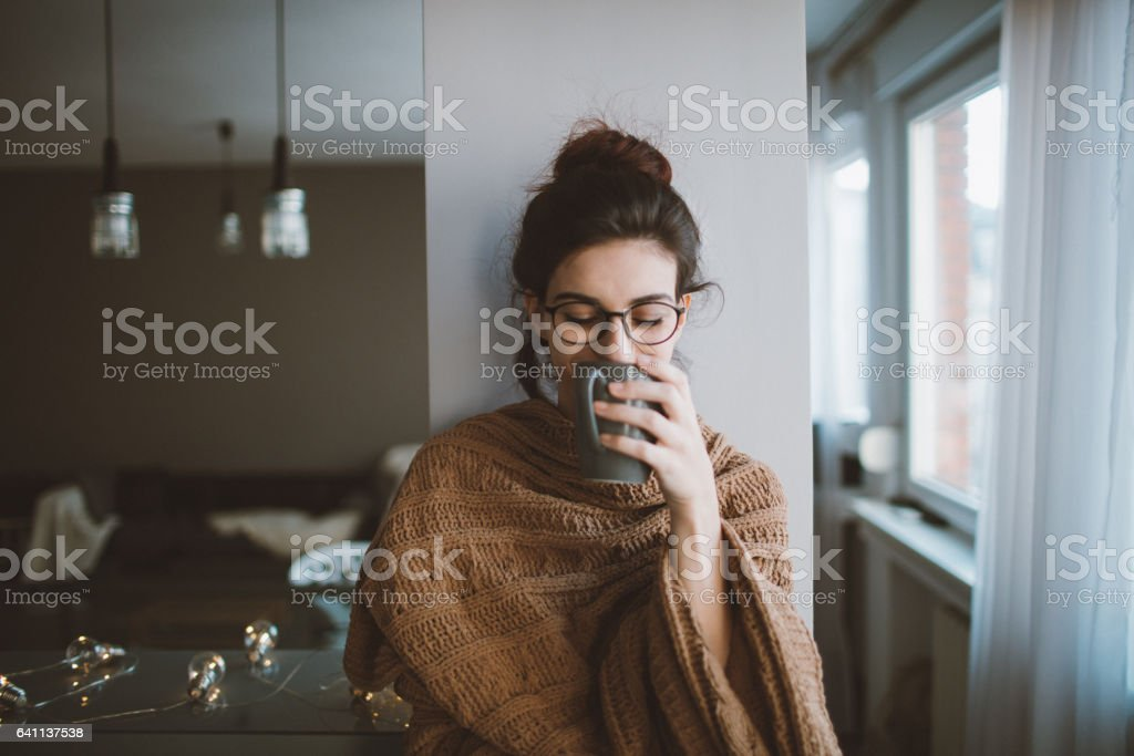 First morning coffee stock photo