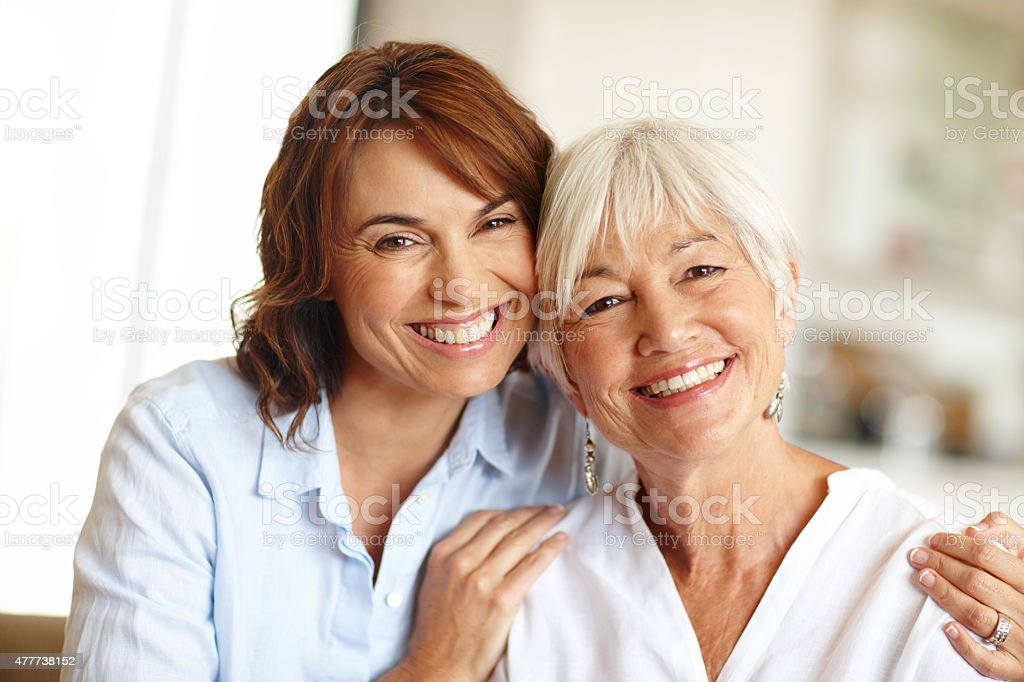 First my mother, forever my friend stock photo